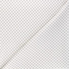 Andover Fabrics cotton fabric - white Haunted Check x 10cm