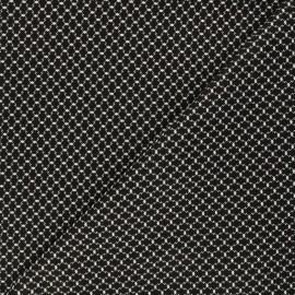 Andover Fabrics cotton fabric - black Haunted Check x 10cm