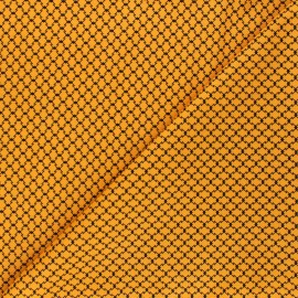 Andover Fabrics cotton fabric - orange Haunted Check x 10cm