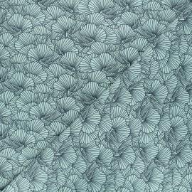 Printed jersey fabric - green Flowa x 10cm