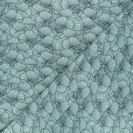 Tissu jersey Flowa - vert x 10cm