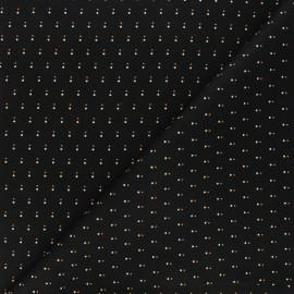 Tissu coton Andover Fabrics Shadow dot - noir x 10cm
