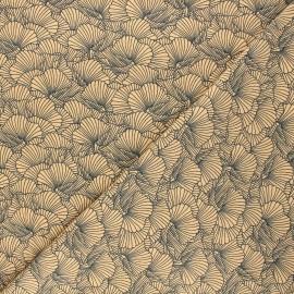 Tissu jersey Flowa - orange x 10cm