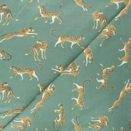 Tissu jersey Struty leopard - vert x 10cm