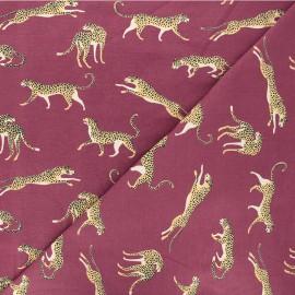 Tissu jersey Struty leopard - violet x 10cm