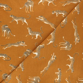 Tissu jersey Struty leopard - ocre x 10cm