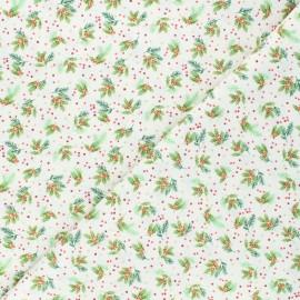 Tissu coton Makower UK Holly - écru x 10cm