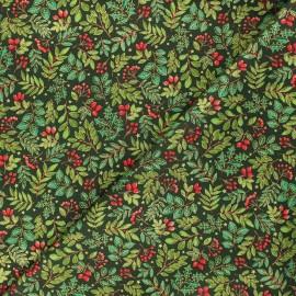 Makower UK cotton fabric - dark green Foliage scatter x 10cm