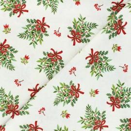 Tissu coton Makower UK Bouquet - écru x 10cm