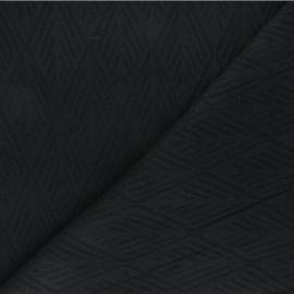 Tissu maille tricot Alpine - noir x 10cm
