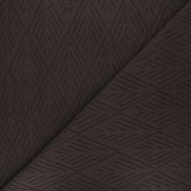 Tissu maille tricot Alpine - marron x 10cm