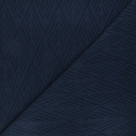 Tissu maille tricot Alpine - bleu marine x 10cm