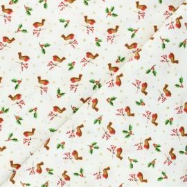 Makower UK cotton fabric - raw Robin x 10cm