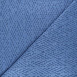 Tissu maille tricot Alpine - bleu x 10cm
