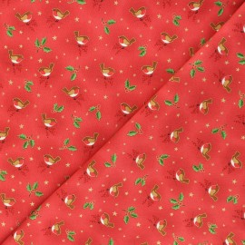 Makower UK cotton fabric - red Robin x 10cm