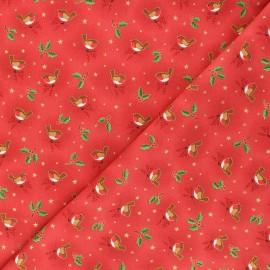 Tissu coton Makower UK Robin - rouge x 10cm