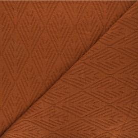 Tissu maille tricot Alpine - cannelle x 10cm