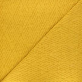 Tissu maille tricot Alpine - jaune moutarde x 10cm