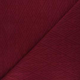 Tissu maille tricot Alpine - bordeaux x 10cm