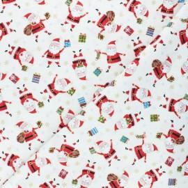 Makower UK cotton fabric Santa express - raw Santa x 10cm