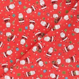 Tissu coton Makower UK Santa express Santa - rouge x 10cm