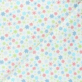 Tissu coton Makower UK Santa express Snowflake - écru x 10cm