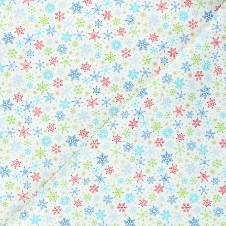 Makower UK cotton fabric Santa express - raw Snowflake x 10cm