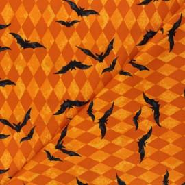 Tissu coton Andover Fabrics Harlequin Bats - orange x 10cm
