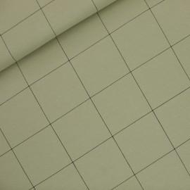 Tissu See you at six sweat léger Thin grid XL - vert thé x 10cm