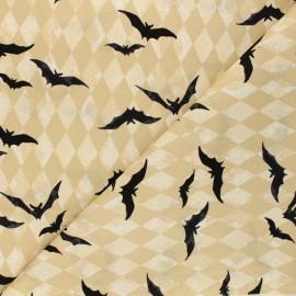 Tissu coton Andover Fabrics Harlequin Bats - beige x 10cm