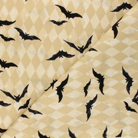 Andover Fabrics cotton fabric - beige Harlequin Bats x 10cm