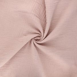 Double gauze fabric MPM Oeko-tex - misty pink x 10cm
