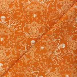 Tissu coton Andover Fabrics Spooky Damask - orange x 10cm