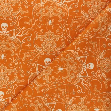 Andover Fabrics cotton fabric - orange Harlequin Bats x 10cm