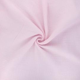 Tissu double gaze de coton MPM - rose clair x 10cm