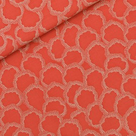 See you at six viscose fabric - burnt red Basins x 10 cm