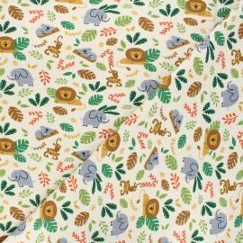 Tissu jersey Savannah friends - beige x 10cm
