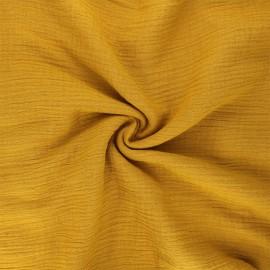 Tissu double gaze de coton MPM - dijon x 10cm