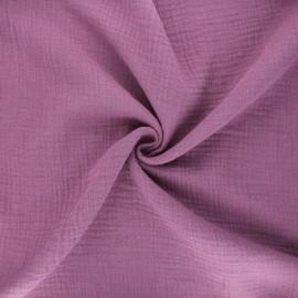 Tissu double gaze de coton MPM - mauve x 10cm