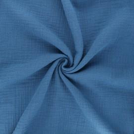 Double gauze fabric MPM Oeko-tex - capri blue x 10cm
