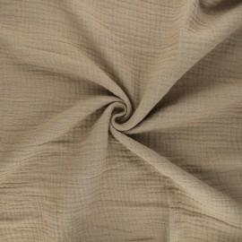 Tissu double gaze de coton MPM - safari x 10cm