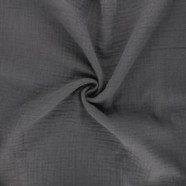 Tissu double gaze de coton MPM - ardoise x 10cm