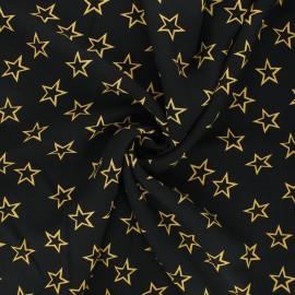 Viscose fabric - yellow Thousand stars x 10cm