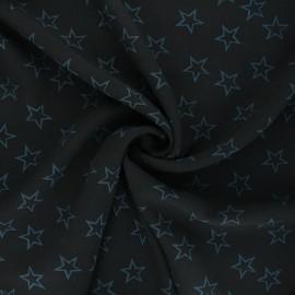 Viscose fabric - blue Thousand stars x 10cm