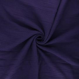 Tissu double gaze de coton MPM - violette x 10cm