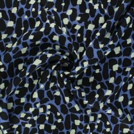 Tissu viscose Savannah skin - bleu x 10cm