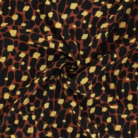 Viscose fabric - brown Savannah skin x 10cm