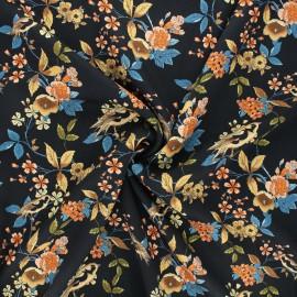 Tissu twill viscose Chant-fleuri - beige x 10cm