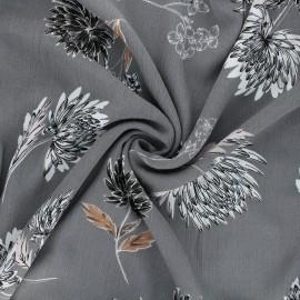 Tissu viscose froissé Eponia - gris x 10cm