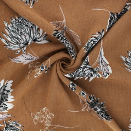 Crinkle viscose fabric - hazelnut Eponia x 10cm